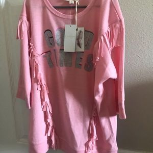 Jessica Simpson 3/4 sleeve Girls top - Large